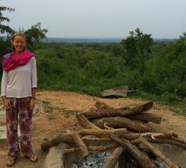 Excitement for my first fire in Uganda,